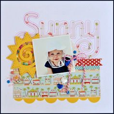 Samantha Walker's Imaginary World: Sunny Shaker Box Layout with Cathy