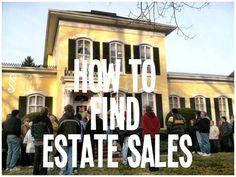 HOW TO FIND ESTATE SALES @ AStoriedStyle.com