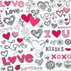 Valentine's Day Love and Hearts Sketchy Doodles Set - Stock Vector , . - Valentine's Day Love and Hearts Sketchy Doodles Set – Stock Vector , … Valentine's Day Love and Hearts Sketchy Doodles Set – Stock Vector , Valentines Day Doodles, Valentines Day Hearts, Valentine Day Love, Love Doodles, Heart Wallpaper, Love Wallpaper, Doodle Drawings, Doodle Art, Heart Doodle