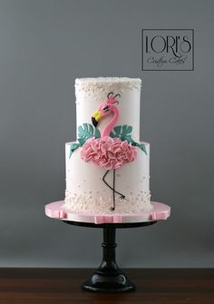 Flamingo birthday Flamingo birthday by Lori Mahoney (Lori's Custom Cakes) Luau Birthday Cakes, Homemade Birthday Cakes, Birthday Cakes For Women, Birthday Cake Girls, Flamingo Cake, Flamingo Birthday, Bird Cakes, Cupcake Cakes, Pretty Cakes