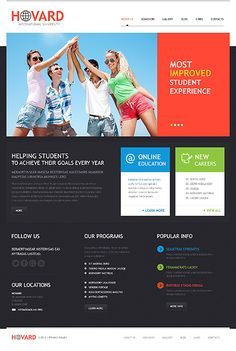 University WordPress Theme #website http://www.templatemonster.com/wordpress-themes/44653.html?utm_source=pinterest&utm_medium=timeline&utm_campaign=flat