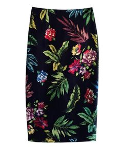 Vintage Print Hip-wrapped Skirt