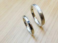 material:pt wide:2.5mm/3mm option:sapphire,birthstone,milled  http://www.yubiwatsukuru.com/