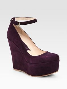 Boutique 9 - Cesena Suede Wedge Platform Pumps, wouldn't these be gorg with contrasting tights & a little wool dress?