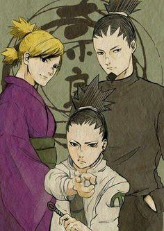 Nara Family #shikamaru #temari #naruto