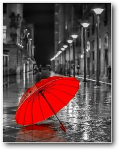 Red umbrella (digital wallpaper) via Zedge