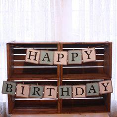 "Custom order a ""Happy Birthday"" banner today! | $20.00 etsy.com/shop/littlebitshomemade"