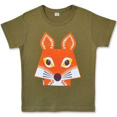 Tee shirt Renard - créé par Mibo - Editions Coq en pâte.  Sur le dos du tee-shirt, on voit le dos du renard. Malin !
