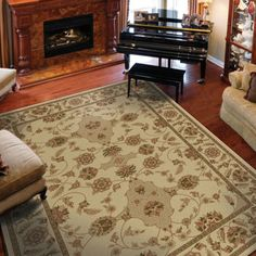 Costco: Classic Antiquity Olefin Machine-Made Rug Collection - Frontera Bisque