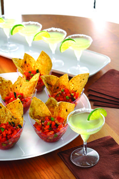 Mini plastic canape dishes are an inexpensive way of serving impressive canapes to your party guests!