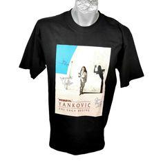 "Weird Al Yankovic T-shirt Galactic Concert Tour Saga Begins 1999 3 Autographs Weird Al Yankovic Galactic Concert Tour Saga Begins T-shirt 1999 T- Shirt Mens Size: L cotton Back Length - "" ( center back neck seam to hem) Width"