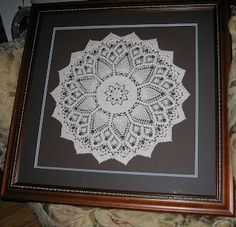 Frame a doily to hang on the wall.