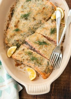 Recipe: Panko-Crusted Salmon with Dill & Lemon
