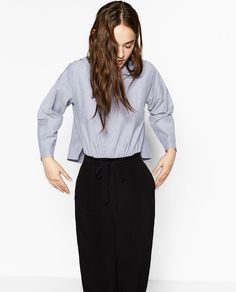 ZARA - WOMAN - CONTRASTING OXFORD JUMPSUIT