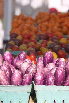 Eggplants and tomato