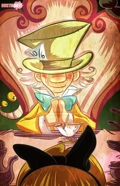 Mad Hatter Tea Party with Alice by DustinEvans on deviantART