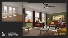 """Check out my #interiordesign """"Comfy Living"""" from #Homestyler http://autode.sk/1isdJpo"""