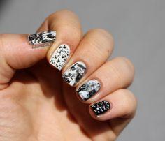Confetti Loreal mix&match nail nailart black&white skittlette