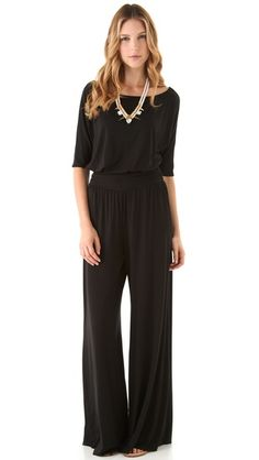 Rachel Pally Heathcliff Jumpsuit  More on my quest to find the perfect black jersey jumpsuit for work.