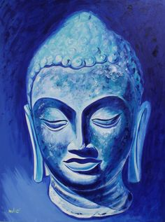 "BUDDHA PEACE 40x30"" oil on canvas by drago milic"