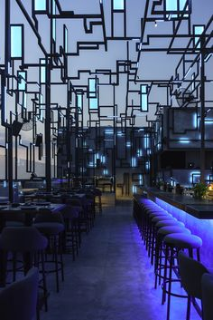 Spine Beirut, the latest hospitality project by interior designer Gregory Gatserelia, is the first rooftop bar design concept focused on the sky Design Café, Bar Interior Design, Lounge Design, Restaurant Interior Design, Cafe Design, Rooftop Design, Rooftop Lounge, Bar Lounge, Rooftop Bar