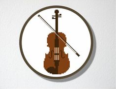 Counted Cross stitch Pattern PDF Violin by CharlotteAlexander, $4.00