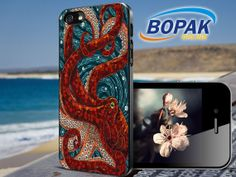 Octopus art mosaic   iPhone 4/4s/5/5c/5s Case  by BopakOnline, $13.99