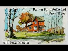 How to Draw a house, building or street scene. QUICK, EASY AND FUN. With Peter Sheeler - YouTube