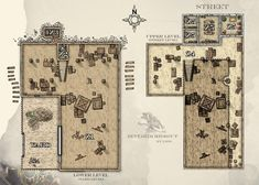 """Post with 3116 views. [OC][ART] My Rendition of """"Zhentarim Hideout"""" from """"Waterdeep: Dragon Heist"""" Fantasy Races, Fantasy Map, Map Layout, Adventure Map, Forgotten Realms, Dungeon Maps, Location Map, Tabletop Rpg, Dungeons And Dragons"""
