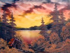 Bob Ross red sunset