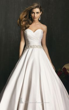 Allure 9065 by Allure Bridals -- like the top, overall a little plain though