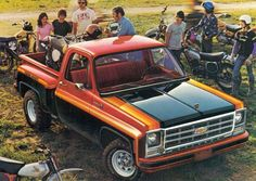 Cool Muscle Trucks - Click Visit link for Vintage Chevy Trucks, Custom Chevy Trucks, Old Pickup Trucks, Gm Trucks, Chevrolet Trucks, Cool Trucks, 1976 Chevy Truck, Diesel Trucks, Chevy Stepside
