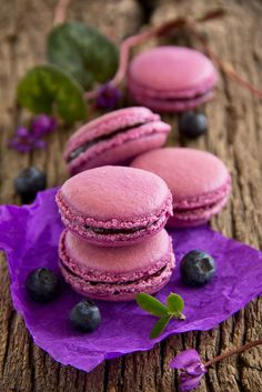 Makarons French pastries stuffed with black currant.- French pastries stuffed with black currant. Makarons French pastries stuffed with black currant Gourmet Desserts, Gourmet Recipes, Dessert Recipes, Plated Desserts, Pastry Recipes, Italian Pastries, French Pastries, Custom Cookie Cutters, Custom Cookies