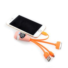 4in1 customized charging cable for Android an iPhone