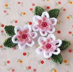 Aprenda Fazer Maravilhosas flores de crochê. Acesse: https://go.hotmart.com/W6912071O