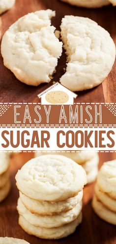 Say hello to your new go-to recipe for Easter! This modern adaptation of Amish Sugar Cookies yields the softest, no-fuss treats that will ever come out of your oven. You can even decorate this delicious Easter dessert with the kids! Pin these homemade Easter cookies! Easy Cookie Recipes, Sweets Recipes, Baking Recipes, Baking Breads, Amish Sugar Cookies, Sugar Cookies Recipe, Sweet Desserts, Holiday Baking, Cakes And More