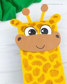 Safari Animal Crafts, Giraffe Crafts, Zoo Crafts, Puppet Crafts, Animal Crafts For Kids, Camping Crafts, Craft Activities For Kids, Zoo Animals For Kids, Art For Kids