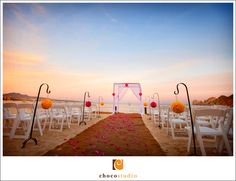 Hacienda Cocina Cantina Beach wedding ceremony details