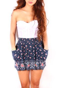 Floral Skirt www.2dayslook.com