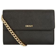 DKNY Bryant Small Park Tech Bag ($225) ❤ liked on Polyvore featuring bags, handbags, saffiano leather bag, multi pocket handbag, logo bags, dkny bags and flap bag