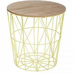 Table à café Kumi - Metal - Vert ATMOSPHERA Mobilier d'intérieur  Meuble de salon  Table d'appoint ATMOSPHERA, Succombez au design de la table à café Kumi. FICHE TECHNIQUE - Plateau en MDF. - Structure en métal. CARACTERISTIQUES TECHNIQUES - Dimensions : Diam. 39,5 x H. 41 cm. - Poids : 2 kg.