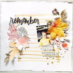 Fall scrapbooking ideas. Love this one!