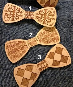 laser cut bow ties by itag studios