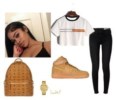 """""""Basic SchoolWear pt2"""" by melanindadoll on Polyvore featuring rag & bone, NIKE, MCM and GUESS"""
