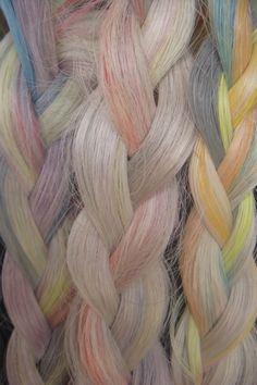 pastel hair braids