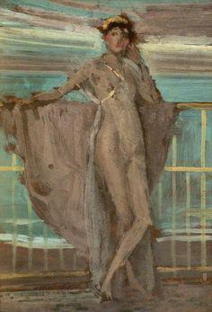 msbehavoyeur: Sketch for Annabel Lee ~ James McNeill Whistler, 1896 via James Abbott Mcneill Whistler, Nocturne, Your Paintings, Original Paintings, Annabel Lee, Portraits, Impressionist Paintings, Manet, Impressionism