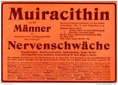 Original-Werbung/ Anzeige 1905 - MUIRACITHIN FÜR MÄNNER - ca. 180 X 130 mm