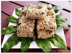 Magvas-medvehagymás pogácsa Krispie Treats, Rice Krispies, Vegan Vegetarian, Blog, Blogging, Rice Krispie Treats