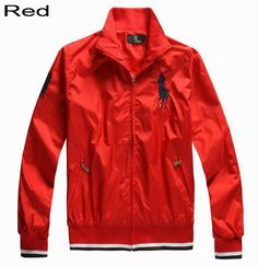 Polo Ralph Lauren Men Big Pony Peyton Windbreaker Jacket Red