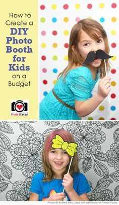 DIY Photo Booth | How To Make  A Cute and Easy Photo Booth For Kids On A Budget By DIY Ready. http://diyready.com/15-fun-things-to-do-at-a-sleepover/